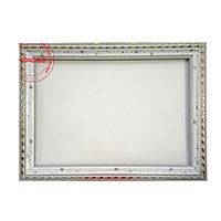 Khung ảnh, khung bằng khen A4 trắng sao, tặng Đinh ba chân không phải khoan tường
