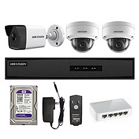 Trọn bộ 3 Camera IP 2MP HIKVISION  - Hàng chính hãng