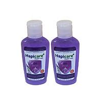 Combo 2 chai gel rửa tay khô Hapicare Lavender 60ml