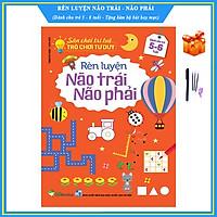 Rèn luyện não trái não phải cho trẻ 5 - 6 tuổi - Sân chơi trí tuệ, trò chơi tư duy - Tặng bộ bút bay mực