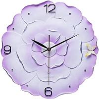 Đồng hồ treo tường hoa hồng tím