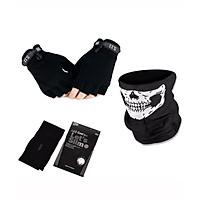 Combo chống nắng dành riêng cho phượt thủ - 3 món (Khăn đa năng, ống tay, khăn trùm mặt nạ njnja)