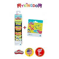 Ống bột nặn 10 màu tặng E0801 Bộ Play Doh đầu đời CB22037-E0801
