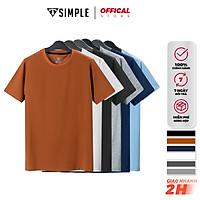 Áo Thun Nam cổ tròn TSIMPLE áo phông trơn basic tay ngắn vải cotton co giãn, dày dặn , form chuẩn nhiều màu