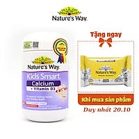 Viên Nhai Cho Bé Nature's Way Kids Smart Calcium + Vitamin D3 Burstlets Bổ Sung Canxi Phát Triển Chiều Cao 50 Viên