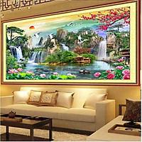 Tranh Treo Tường Phòng Khách - Tranh Sơn Thủy Hữu Tình ST0002