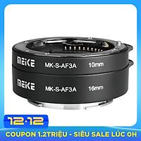 Ngàm Chụp Macro Meike MK-S-AF3A Auto Focus Extension Tube 10mm 16mm Cho Sony - Hàng Nhập Khẩu