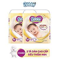 Combo 2 Tã dán cao cấp Bobby Extra Soft Dry mặt bông siêu thấm hút đủ size