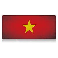 Tấm Lót Chuột Cờ Việt Nam Vô Địch Bo Viền Hàng Tốt 90cm x 40cm x 0,2cm - Hàng nhập khẩu