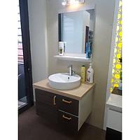Tủ lavabo chịu nước bằng nhựa vân gỗ LBK206