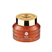 Mặt Nạ Ngủ Cathy Doll 2in1 Snail Honey Ginseng With Gold Sleeping Serum Mask 70g