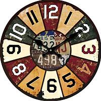 Đồng hồ treo tường size to Vintage Phong cách Châu Âu hình tròn DH17 Số đơn giản