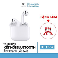 Tai nghe Bluetooth Lanith Không Dây Air pods Wireless Thiết Kế Thời Trang - Tặng dây cáp sạc 3 đầu - Hàng nhập khẩu - TAI00AP2W.CAP001