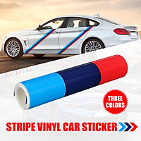 60'' M color stripes Rally side hood Racing Motorsport decal sticker for BMW N