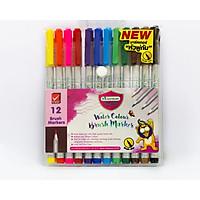 Bộ bút cọ màu nước Masterart 12 màu Thái Lan