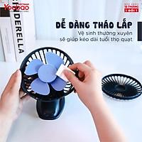 Quạt sạc mini để bàn YOOBAO F04 6400mAh Xoay 720 độ Chạy 32 giờ liên tục - hàng chính hãng