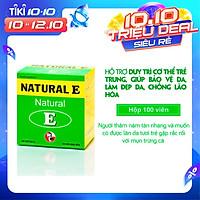TPCN Hỗ trợ chống oxy hóa, giảm lão hóa da, giúp làm đẹp da – Natural E – Robinson Pharma USA-Hộp 100 viên