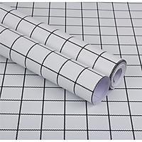 Cuộn 5m Decal Giấy Dán Tường ô kẻ nhỏ trắng  (5m dài x 0.45m rộng)