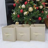 Bộ 3 hộp đựng đồ đa năng không nắp - YMS - 3P - màu sáng phong cách Nhật Bản gọn gàng, tinh tế