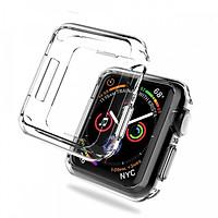 Case ốp bảo vệ silicon dẻo cho Apple Watch 40mm (chống va đập trầy xước, chống bụi, bảo vệ viền) - Hàng nhập khẩu