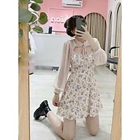 Đầm lolita tay dài hoa nhí siêu dễ thương