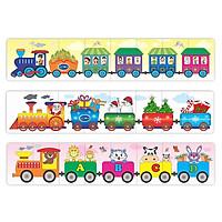 Đồ chơi thông minh cho bé, đồ chơi gỗ, đồ chơi bộ ba xe lửa winwintoys - tặng kèm quà tặng G-Kids
