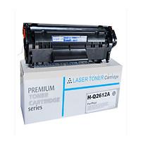 Hộp mực máy in 12a in đẹp, nhập khẩu mới. Gọi là Cartridge, catrich, toner dùng cho máy in HP 1020, 1010, 1012, 1015, 1018, 1022, 1319f
