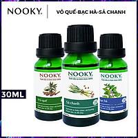 Combo 3 chai tinh dầu nguyên chất: tinh dầu Sả chanh (10ml) + tinh dầu Vỏ quế (10ml) + tinh dầu Bạc hà (10ml)
