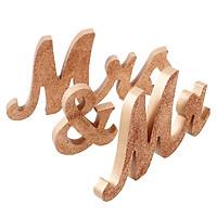 Phụ Kiện Trang Trí Đám Cưới Kiểu Chữ Mr & Mrs Bằng Gỗ