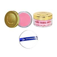 Phấn Má mịn lì chuẩn màu Hồng/Cam được ưa chuộng nhất của hãng Phấn Nụ Hoàng Cung - Tặng Kèm 1 Bông Phấn.