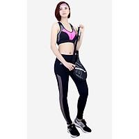 Bộ đồ tập Gym Yoga Thể thao nữ quần dài lưới áo bra