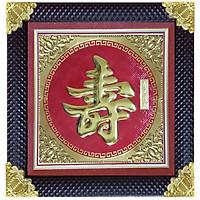 Tranh Đồng chữ Thọ - Tôn Đản HP (60 x 60cm)
