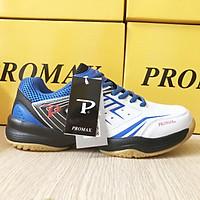 Giày thể thao chơi bóng bàn, giày chơi cầu lông Promax PR-19003 màu Trắng xanh