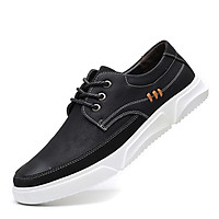 Men's casual sneakers extra large fashion trend soft sole all-match lace-up men's shoes