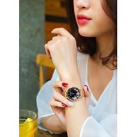Đồng hồ nữ Julius Hàn Quốc JA 1164LG dây kim loại lưới mặt tròn hoa sang chảnh ĐHĐ27801