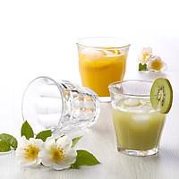Bộ 6 ly thủy tinh chịu lực Duralex Pháp Picardie 250 ml ( Trắng trong / Xanh Marine / Vàng Amber )