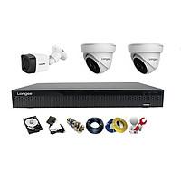 Camera Longse TVI 2.0MP 1080p bộ 3 mắt (Nhựa)