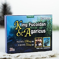 Thực phẩm bảo vệ sức khỏe King Fucoidan & Agaricus Hộp 30 viên