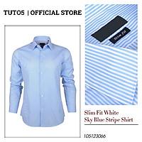 Áo sơ mi Slim Fit Shirt Blamor form ôm chất liệu lụa cao cấp hàng vnxk_ASM048