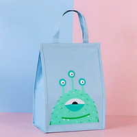 Túi đựng cơm SIZE TO vải Oxford giữ nhiệt nóng/ lạnh hoạ tiết Monster (size 25.5x16x35 cm)