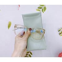 Gọng kính cận nữ MẮT KÍNH XANH mắt kính vuông gọng kính Nhựa cao cấp màu sắc thời trang 2001