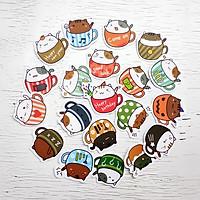 Sticker Bịch Mèo Ly Cảm Xúc Cute