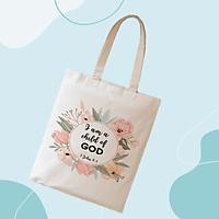 TÚI VẢI CANVAS (tote shopping bag) CÓ CÂU KINH THÁNH CƠ ĐỐC (5 mẫu)
