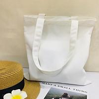 Túi vải tote nữ Canvas trơn trắng Gady