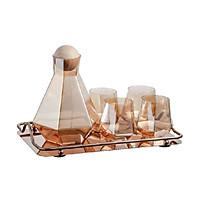 Set bình nước thủy tinh  3-D-B11-T3159 (1 bình, 1 khay +4 cốc)