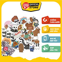 We Bare Bears - Set 30 sticker hình dán