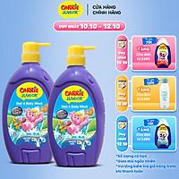 Combo 2 Sữa Tắm Gội cho bé Carrie Junior Hương Tinh Chất Sữa (700g/chai)