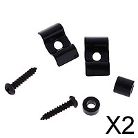 2xGuitar Roller String Tree Guide Retainer Set for Electric Guitar Black