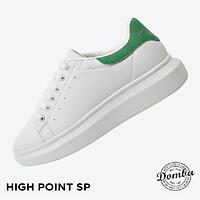 Giày Domba gót nhung xanh lá H-9016