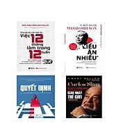 Bộ 4 Cuốn Sách Danh Nhân ; CARLOS SLIM Bí Quyết Giàu Có Nhất Thế Gioi ,Quyết Định Kỹ Năng
